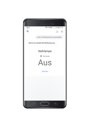 Google-Assistant-Lichtsteuerung